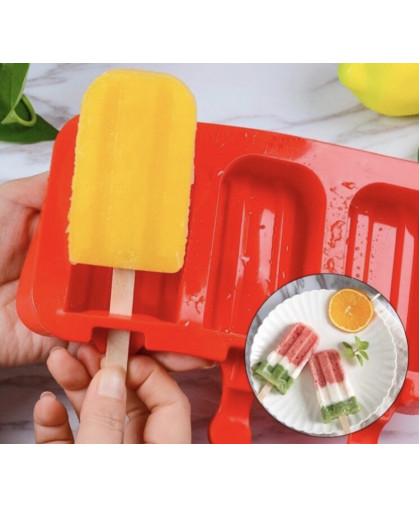 Форма для леденцов и мороженого Эскимо макси 3 ячейки