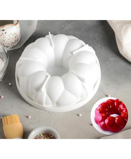 """Форма для муссовых десертов и выпечки 19,5×5,5 см """"Цветочное лакомство"""""""