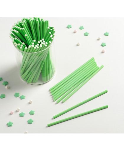 Палочки для кейкпопсов 10×0,2 см, 100 шт, цвет зелёный