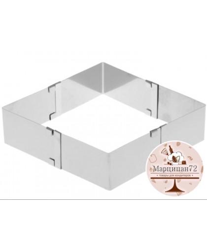 Форма для выпечки с регулировкой размера 10,5-18,5 см, высота 5 см.