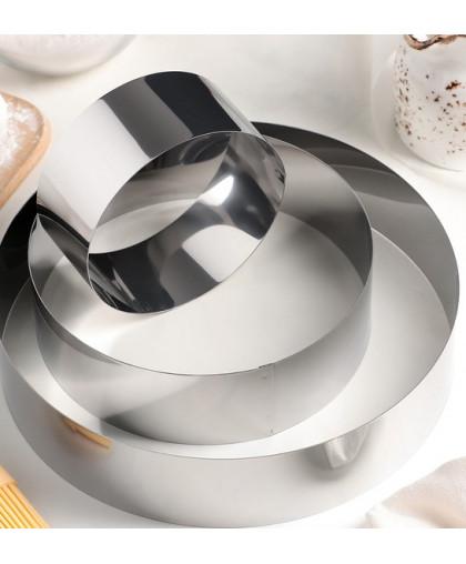 """Набор форм для выпечки """"Круг"""", 3 шт: d=10, 15, 20 см, высота 4,5 см"""