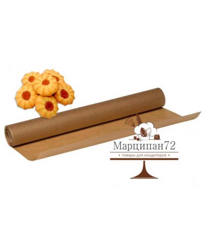 Пергамент коричневый, силиконизированный, 38 см х 25 м