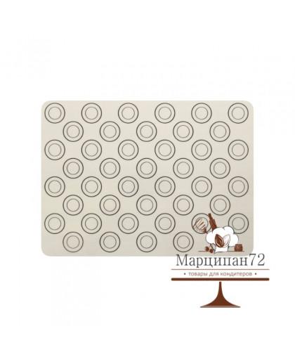 Коврик армированный для макаронс 40х32(30) см. Диаметр кружков 3,5см.
