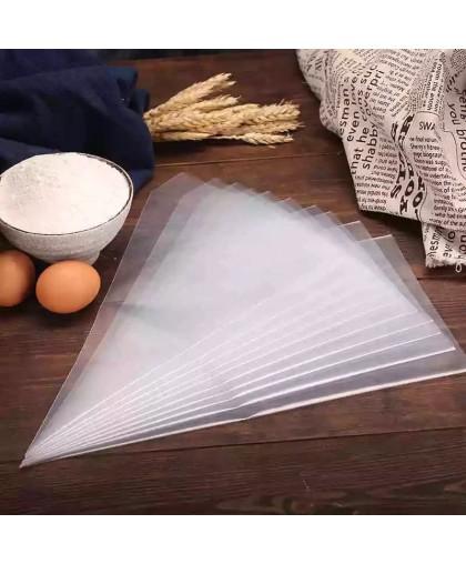 Набор кондитерских мешков одноразовых, 100 шт 35х24 см.