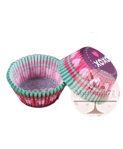 Набор бумажных форм для кексов, диаметр 6,8 см  100 шт ХОХО
