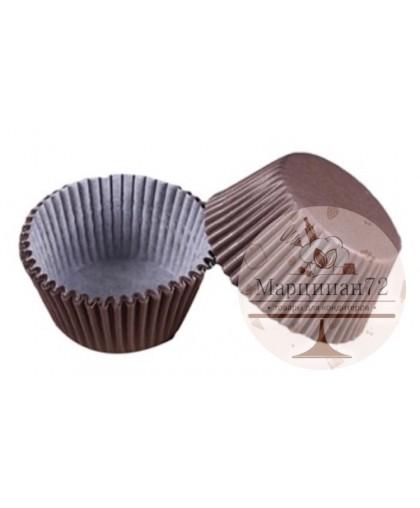 Набор бумажных форм для кексов, диаметр 6,8 см  100 шт Коричневая