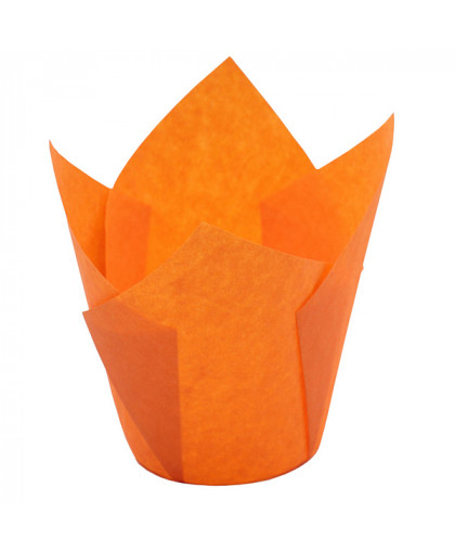 "Форма бумажная ""Тюльпан"" 5 х 8 см, оранжевая"
