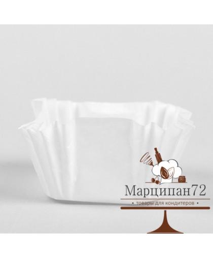 Тарталетка, форма квадрат, белая, 3,5 х 3,5 х 2,3 см. 16 шт