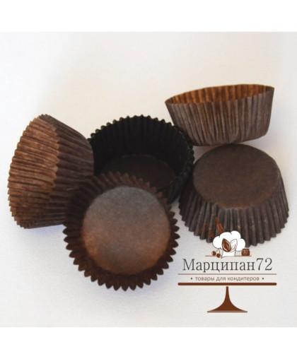 Тарталетка, форма круг, коричневая, 3 х 1,8 см . 24 шт