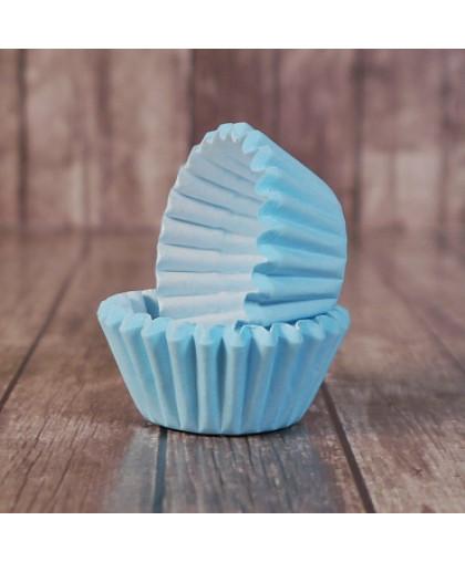 Капсулы бумажные для конфет Голубые 35*23 мм, 20 шт