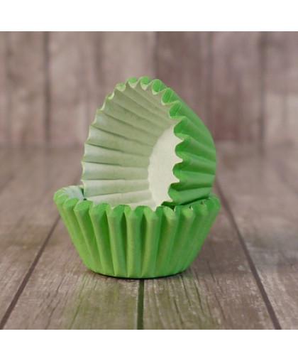 Капсулы бумажные для конфет Зеленые 35*23 мм, 20 шт
