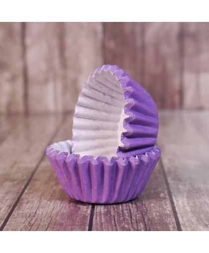 Капсулы бумажные для конфет Фиолетовые 35*23 мм, 20 шт