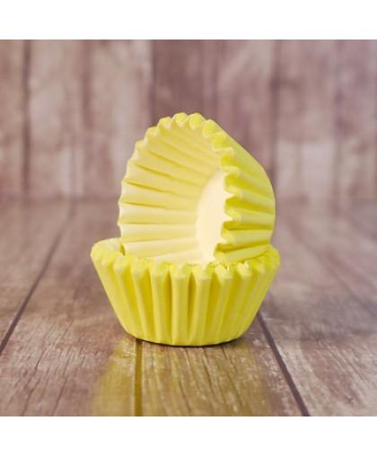 Капсулы бумажные для конфет Желтые 35*23 мм, 20 шт