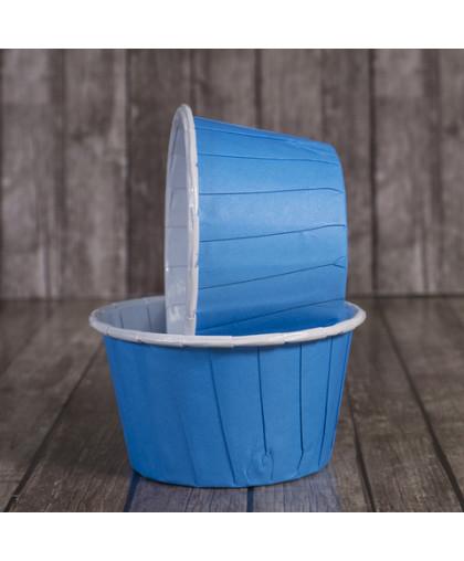 Капсула для маффина с бортиком голубая
