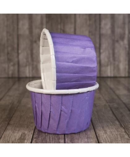 Капсула для маффина с бортиком фиолетовая