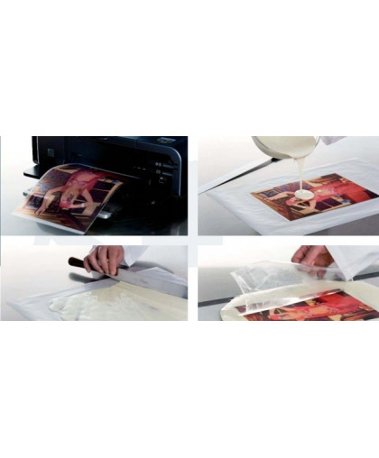 Печать на шокотрансферной бумаге для шоколада А4