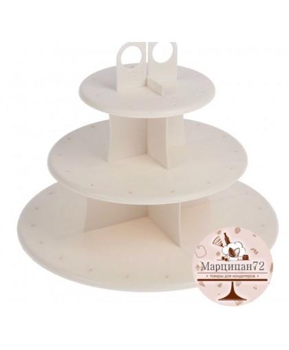 Подставка для капкейков и кейкпопсов, 3 уровня.