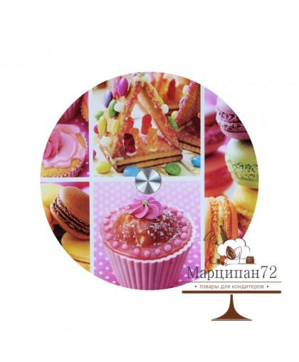 Подставка для торта вращающаяся  «Сладости», d=32 см
