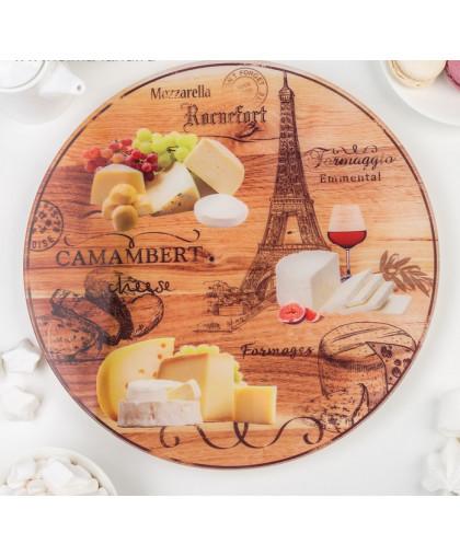 """Блюдо вращающееся для торта 30 см """"Сыр. Париж"""", подарочная упаковка"""