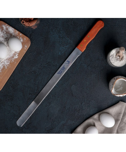 Нож для бисквита с мелкими зубцами, рабочая поверхность 35 см