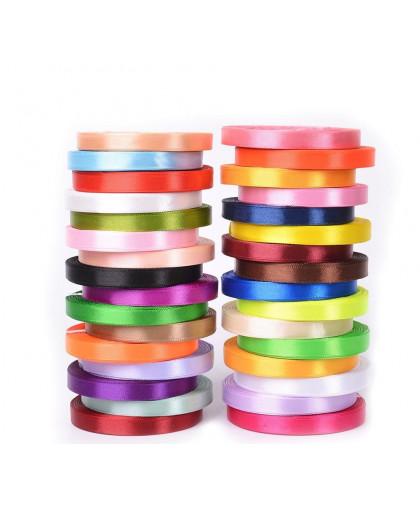 Атласная лента, размер ленты: 10 мм × 25 ± 1 м, цвет в ассортименте