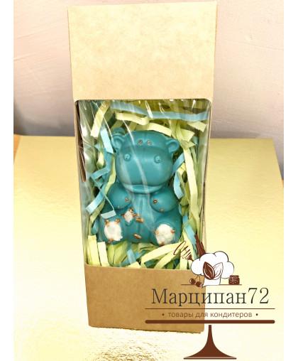 Шоколадная фигурка Бегемотик 95 гр (Голубой)