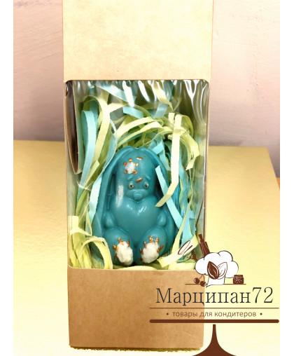 Шоколадная фигурка Зайка 65 гр (Голубая)