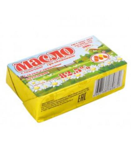 Масло сливочное 82,5% ГОСТ 200 гр