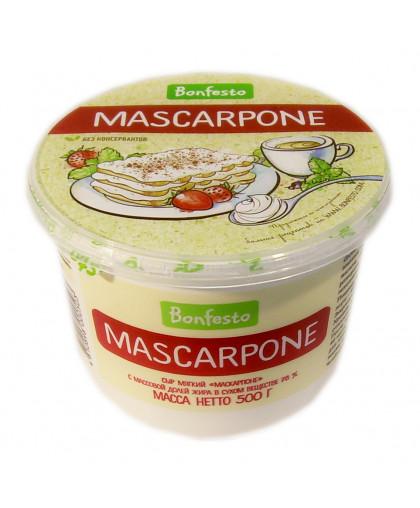 "Сыр мягкий Маскарпоне, 78%, 500 гр, ""Bonfesto"""