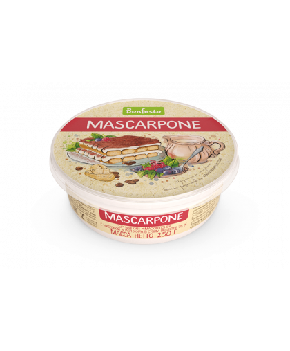 "Сыр мягкий Маскарпоне, 78%, 250 гр, ""Bonfesto"""
