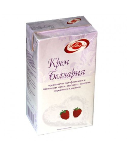 Крем Беллария для взбивания на растительных маслах 27 %