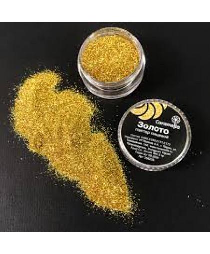 Глиттер съедобный пищевой Золото Caramella, 5 гр (Блёстки)