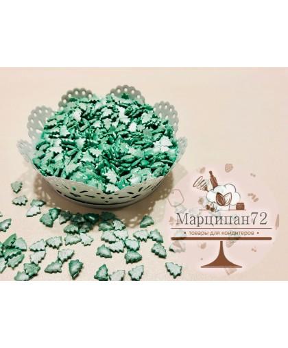 Посыпка  елочки зеленые перламутровые 60 гр