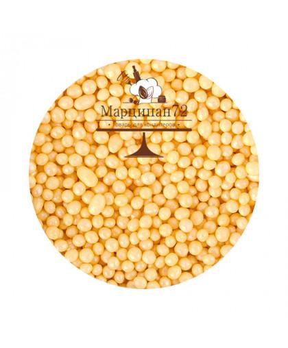 Посыпка Желтый Перламутр шарики 0,7 кг.