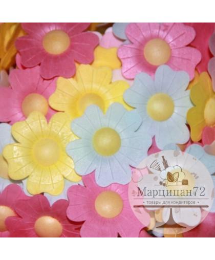 Вафельные декоративный украшения Цветочки Шиповник 10 шт