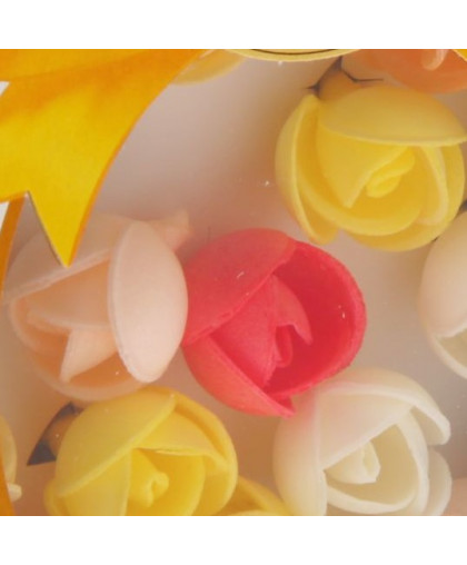 Вафельные декоративный украшения Цветочки Розочки 6 шт