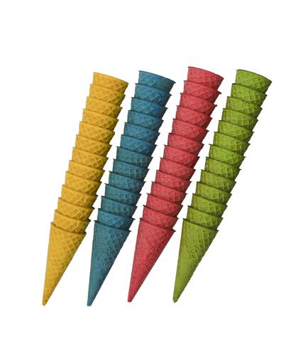 Вафельные рожки разноцветные 12 шт