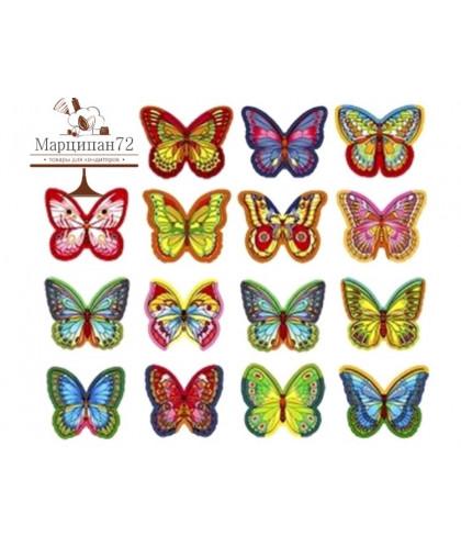 Вафельные декоративный украшения Бабочки 15 шт