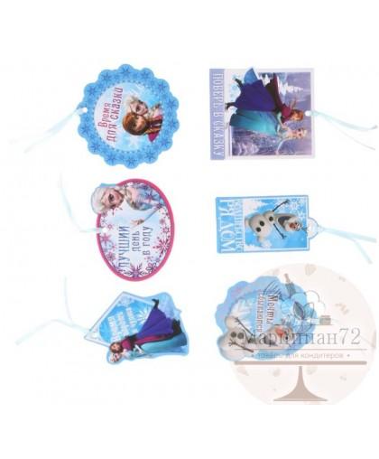 """Набор мини-открыток (6шт )""""Время для сказки"""", Холодное сердце."""