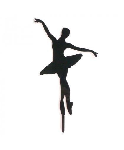 Топпер силуэт Балерина большая черный 10х15 см