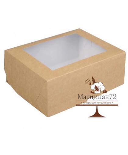 Упаковка для капкейков с окном на 6 шт, 25 х 17 х 10 см.