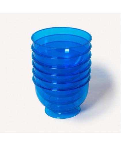 Креманка голубая для десертов одноразовая Кристалл 200 мл