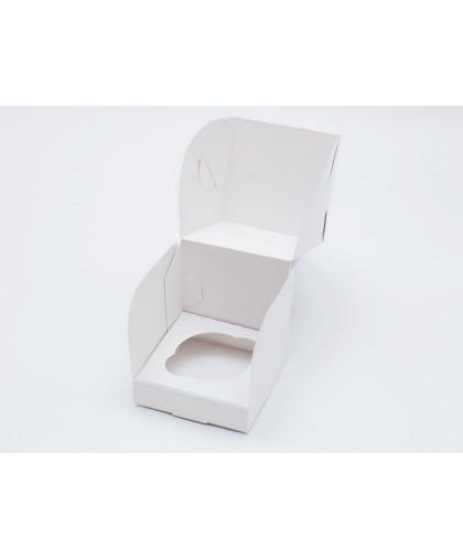Коробка под 1 капкейк белая 100х100х100 мм