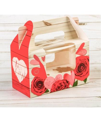 Коробочка для кексов «Ярких эмоций!», 16 × 10 × 8 см.