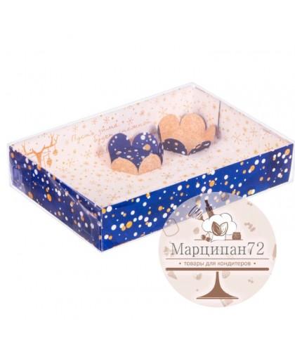 Коробка для макарун с подложками «Пусть зима будет снежной», 17 × 12 × 3 см.
