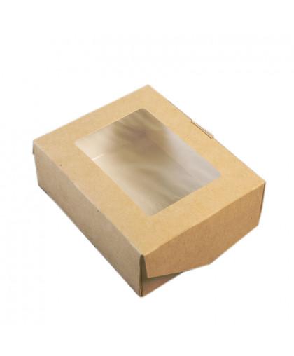 Коробка самосборная бесклеевая с окном 10 х 8 х 3,5 см