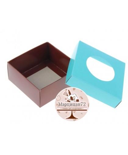 Коробка для сладостей, мятный/шоколад