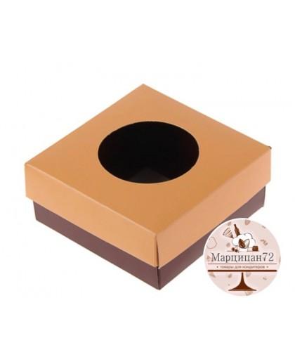 Коробка для сладостей, коралловый/шоколад