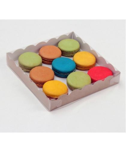 Коробочка для печенья, крафт, 18 х 18 х 3 см