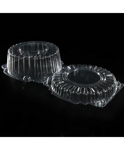 Тортница одноразовая с неразъемной крышкой, круглая, 23×11,4 см ( Контейнер, упаковка для торта )
